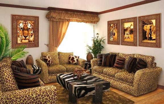 African Safari The Cute And Good African Look Like Jungle Themed Living Room With The Tiger Motif For The Good Coxy Sofa And The Table That Look Like Zebra
