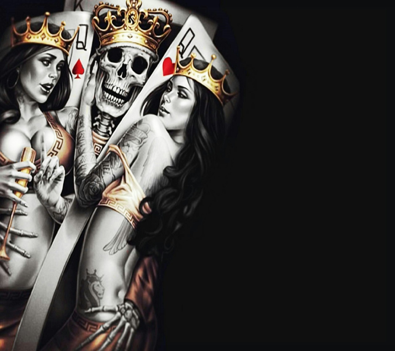 king n queen cards by abhishek we heart it king crown clipart png king crown clipart black and