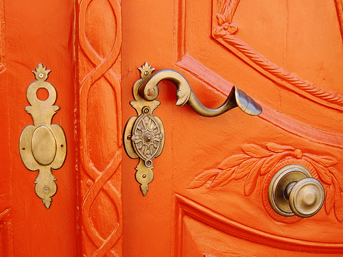 UTE 1 - golden coloured door details on Flickr - Photo Sharing!