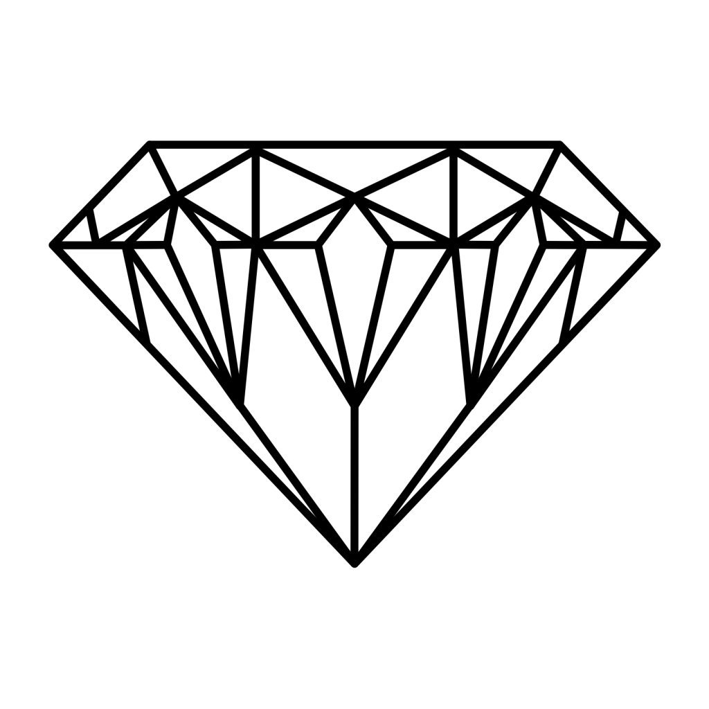 Simple Diamond Outline Tattoo - Viewing Gallery | We Heart ...