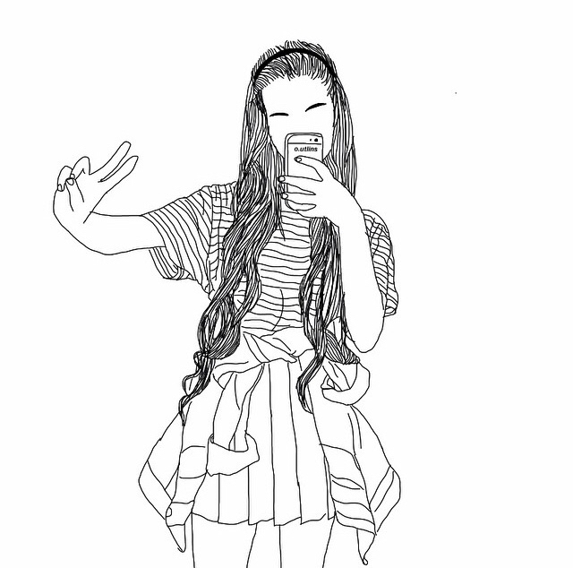 Siins tumblr coloring pages ~ girl, hair and tumblr image on We Heart It