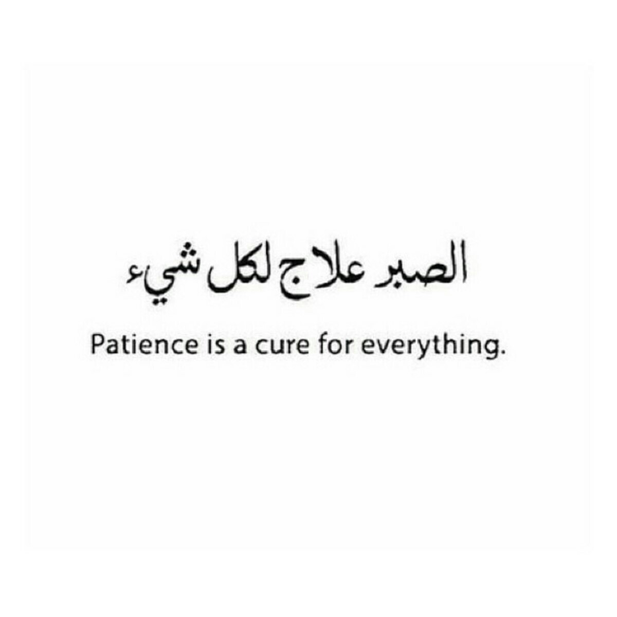 Downloading Arabic Quotes: Patience Is A Cure For Everything