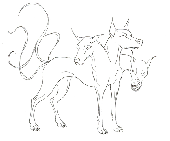 Three Headed Skark Coloring Pages