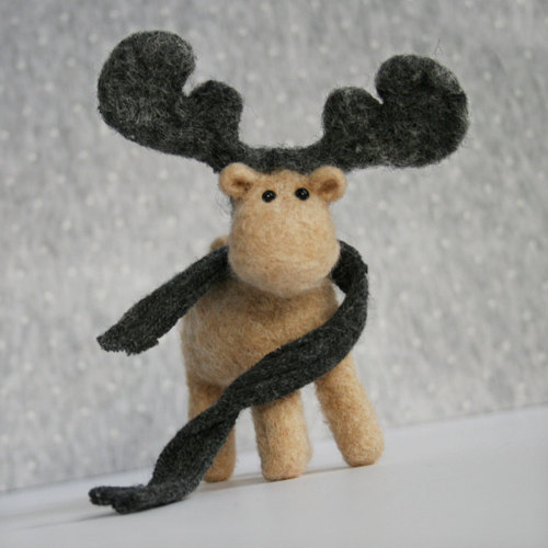 il 570xN.284264080 large Woody handmade ecofriendly Moose with a wool scarf by forestblue
