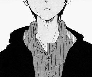 sad anime character