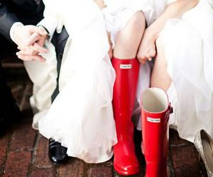 wedding day rain boots