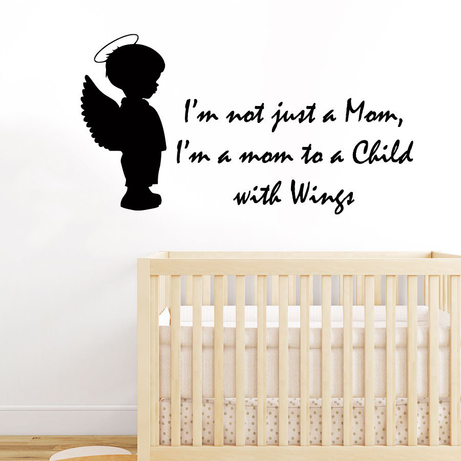 angel wall decals quote i m not just a mom i m by decalmyhappyshop
