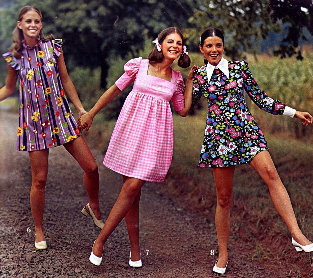 Летние платья 70 х годов