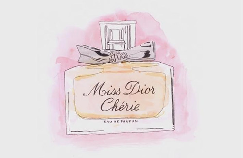 art, bottle, dior, illustration, miss dior cherie - inspiring picture on Favim.com