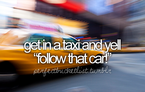 perfect bucket list