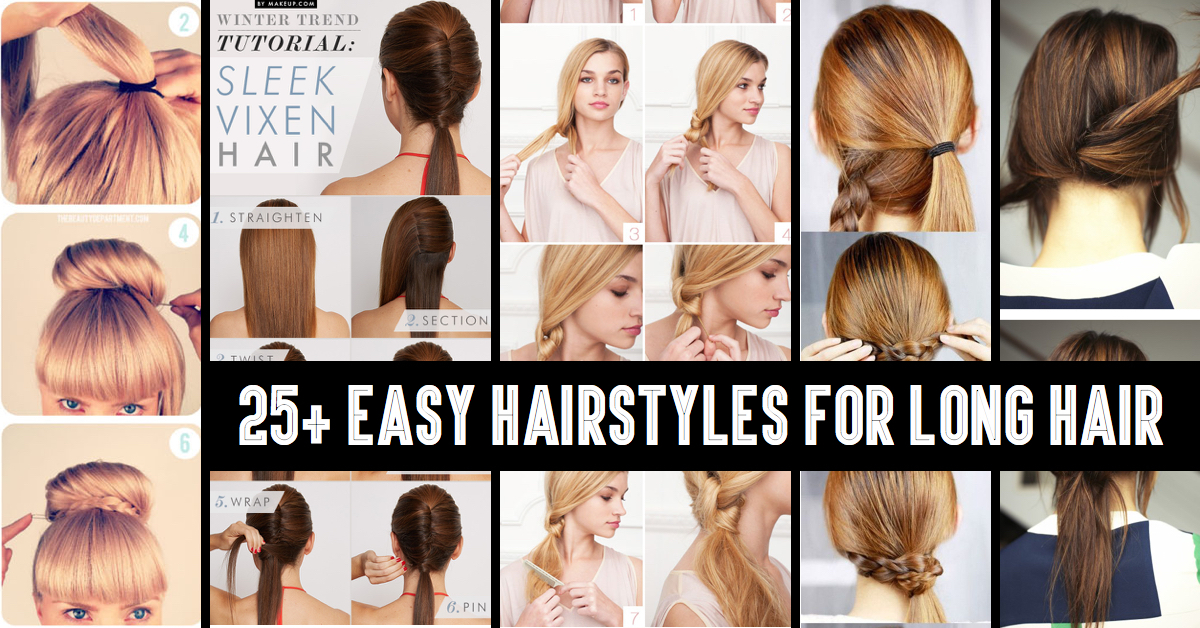 Phenomenal Easy Cute Hairstyles For Thick Medium Hair Easy Casual Hairstyles For Women Draintrainus