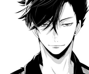 41 images about anime black and white boy on we heart - Black and white anime pictures ...