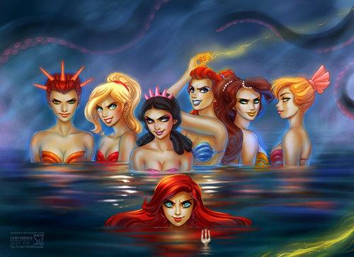 Disney's Mermaids by *daekazu on deviantART