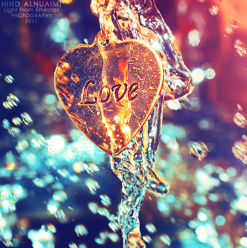 Colorful Cute Drop Heart Love Necklace Photography Rain Splash Water - PicShip