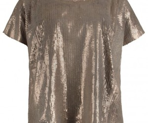 metallic daye tee