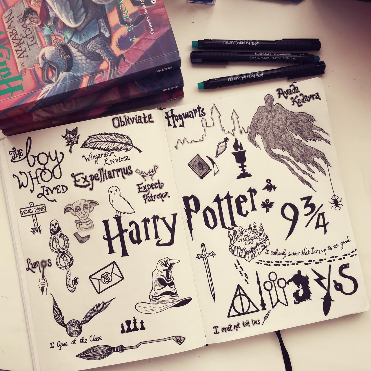 Harry Potter, Black, White