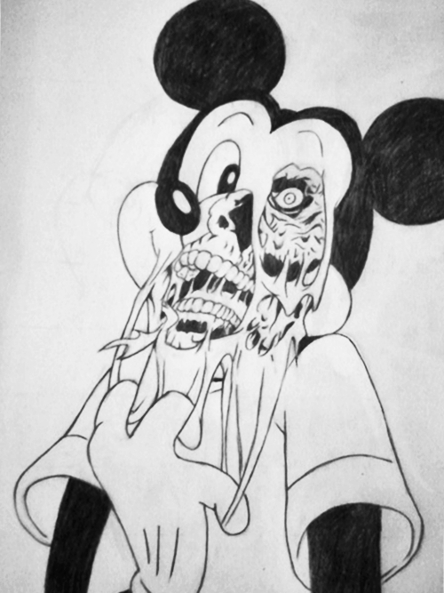 "Dead Mickey Mouse Drawing Group of ""yerin Dibindesin ve"