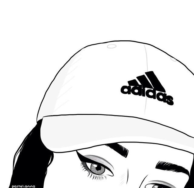 Рисунки с карандашом девочки с кепками