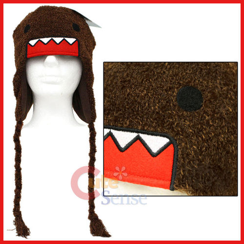 Domo Kun Plush Lapland Hat : Beanie /Ear Flap (Teen-Adult) Licensed -Fuzzy ...