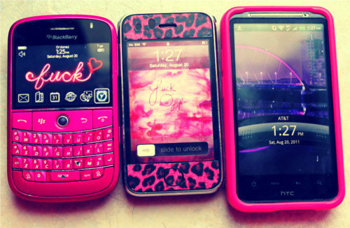 Blackberry Iphone Htc Pink Mobile phone Cute - PicShip