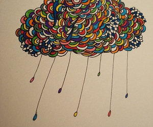 clouds colored drawing collor