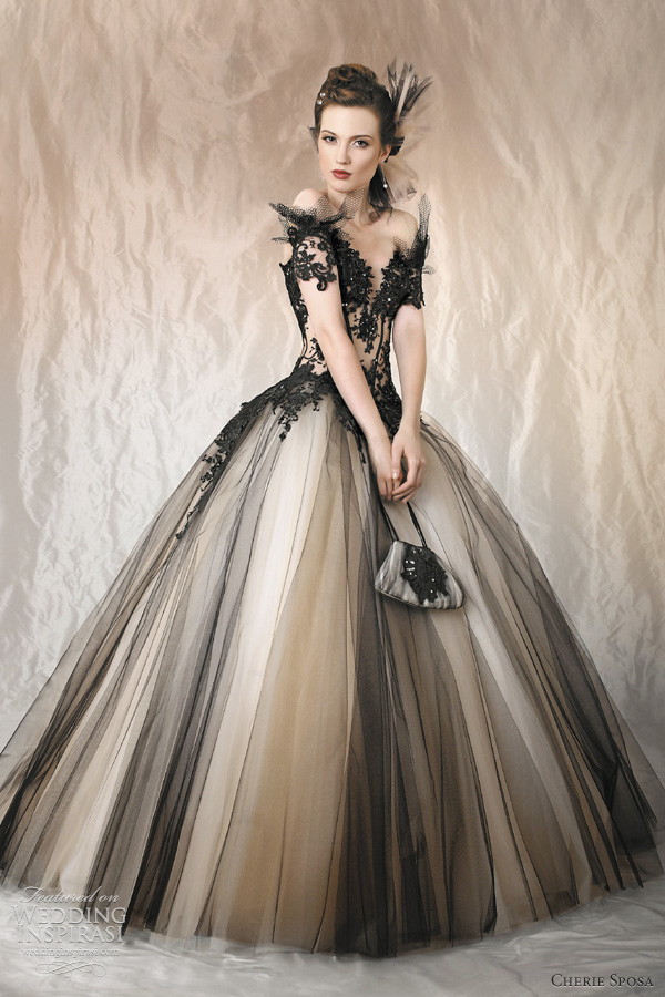 Black Ball Gown Wedding Dresses