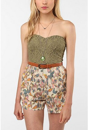 UrbanOutfitters.com > Pins and Needles Lace Zip-Back Bustier