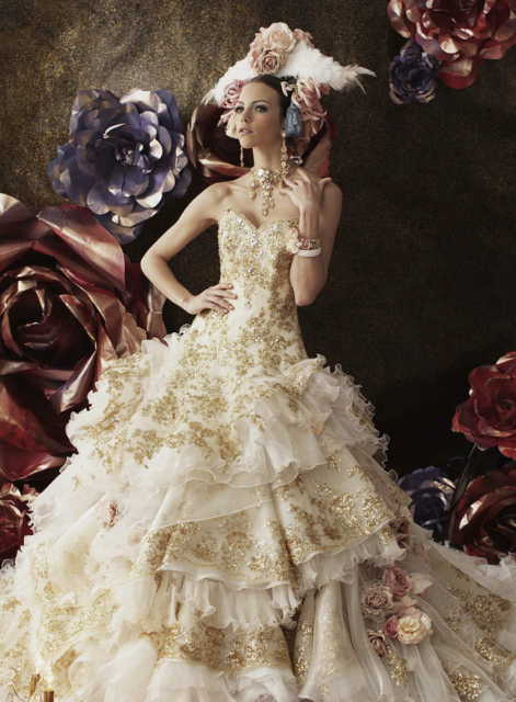 Not for me but pretty in a very busy way we heart for Marie antoinette wedding dress