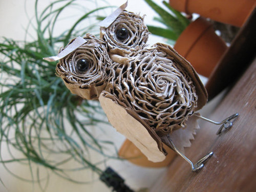 il 570xN.273196433 large Standing Cardboard Owl Miniature by alteredperception on Etsy