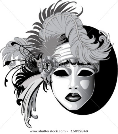 Stock-vector-gray-scale-feathered-ornamented-sad-face-venetian-drama-mask-vector-illustration-15832846_large