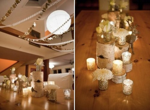 Wedding Blog Fall Wedding Trend Gold Sparkle by COLOURlovers
