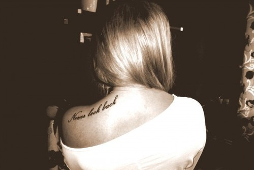 back, back tattoo, pretty, tattoo, typography - inspiring picture on Favim.com