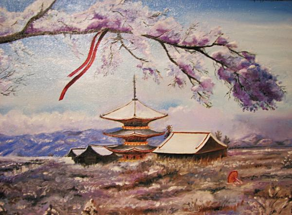 Japanese landscape Painting by Kirill Danileiko - Japanese ...