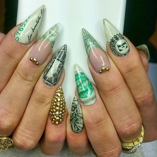 Acrylic Nail Designs We Heart It Best Ideas About Sparkle Nail
