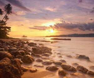 sun beach sea sunset