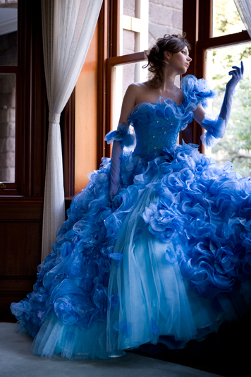 blue color romantic wedding dress Wedding dress Bridal Fashion Wedding