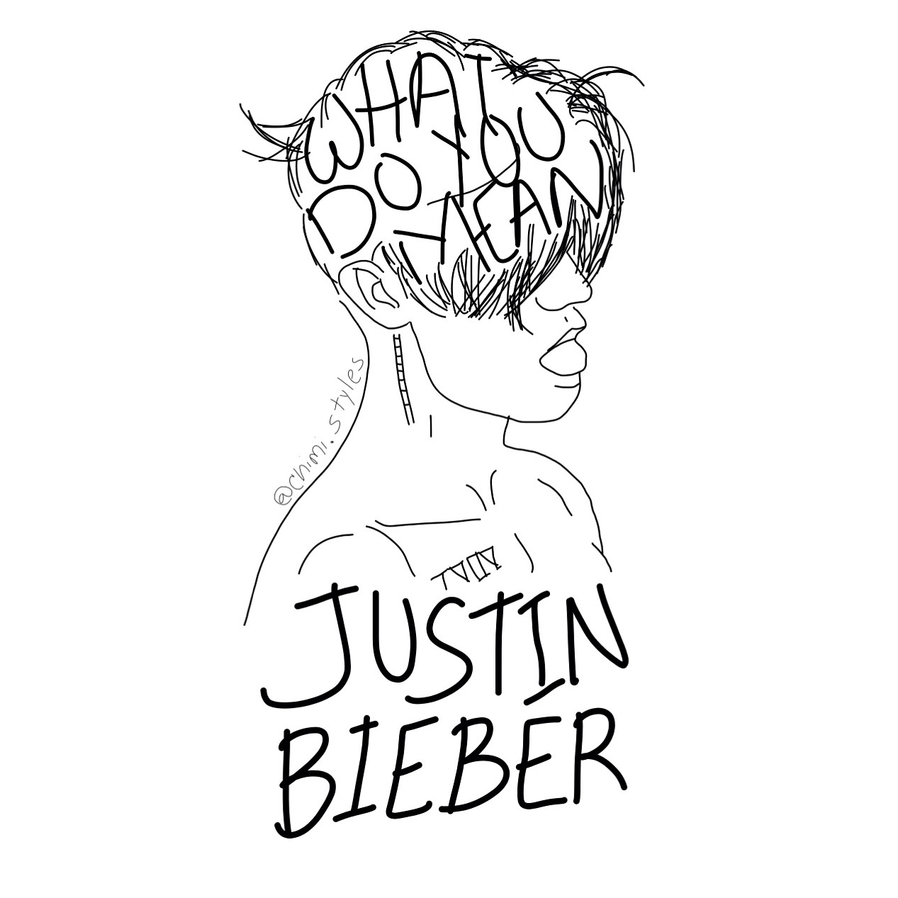 Line Art Meaning : My cover art for what do you mean the new justin bieber s