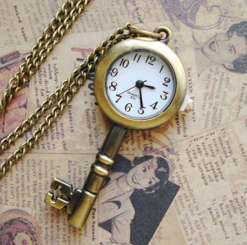 Free-shipping-vintage-style-key-watch-necklace-coat-chain-fashion-jewelry-mixed-styles_large