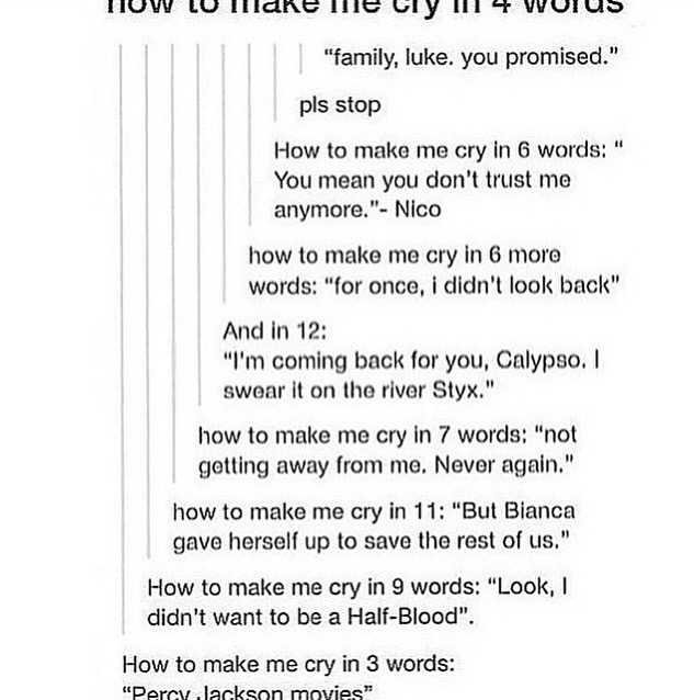 how to make me cry in 4 words by potterhead demigod
