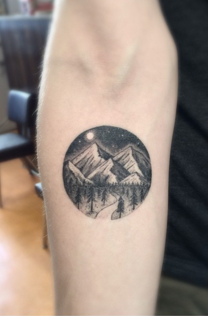 Mountain Tattoo, Small Tattoo, Nature