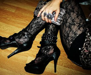 heels fashion black