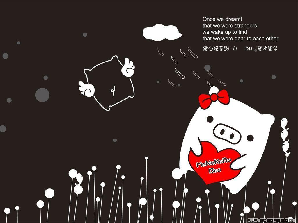 Monokuro Boo Heart Wallpaper a...