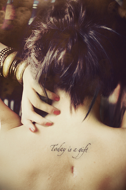 gift, girl, heart, love, tattoo - inspiring picture on Favim.com