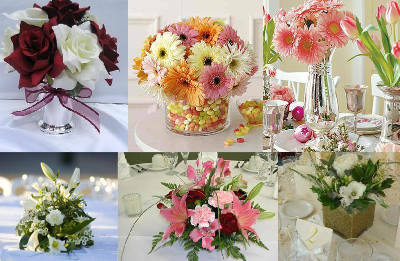 Flowers dinner party decor table decortion small floral for Dinner table flower arrangements