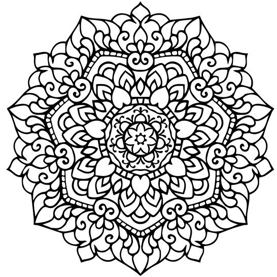 Mandala Adult Coloring Page Printable