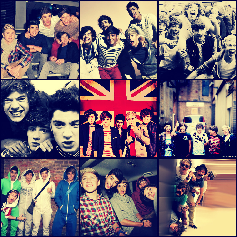 One Direction Collage Twitter Background | www.pixshark ...