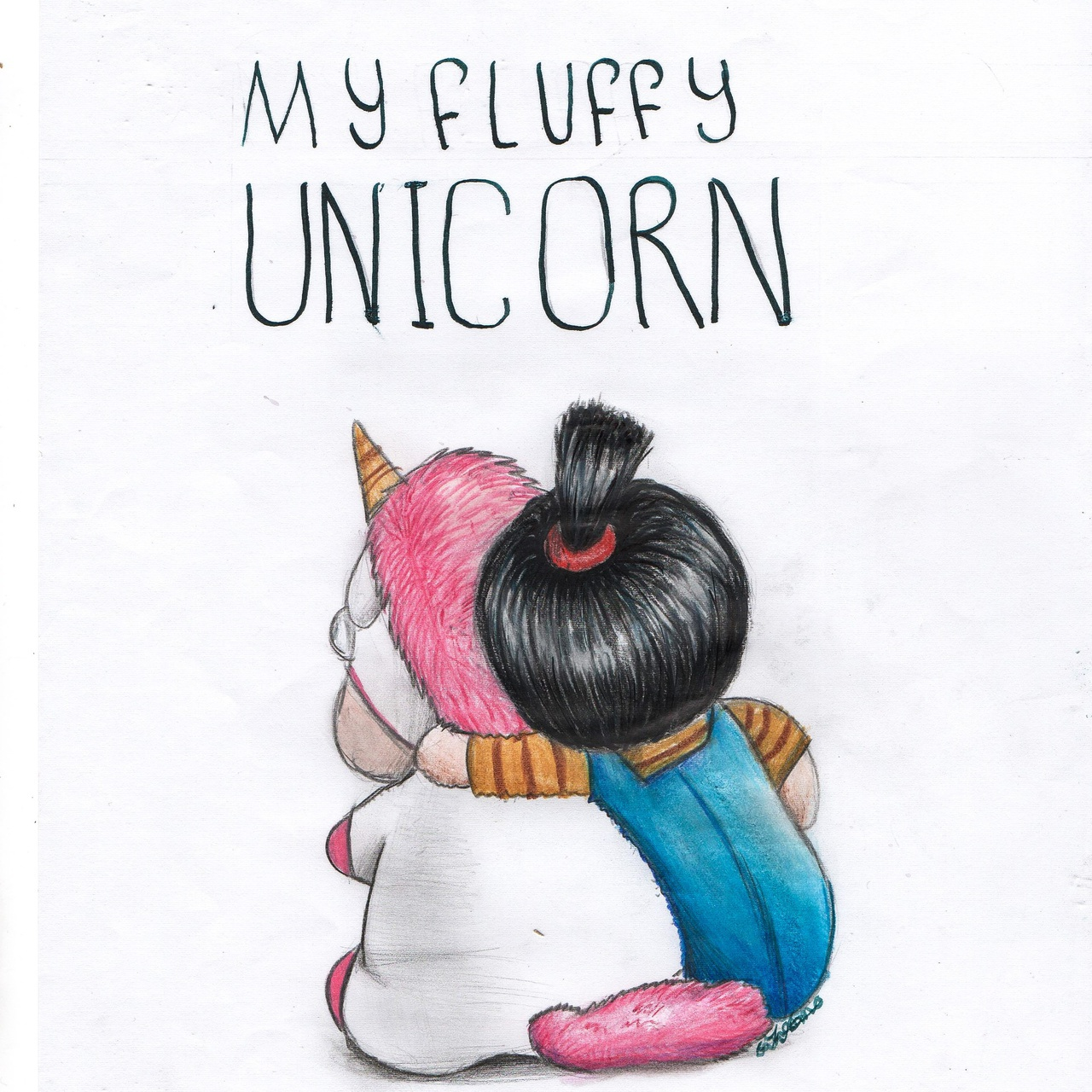 despicable me agnes and unicorn drawing by suzanna