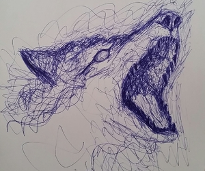 ink wolf drawing sketch