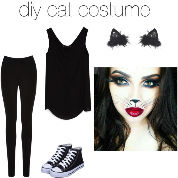 The Lace Figure: 5 Quick and Easy Halloween Costumes  |Diy Kitty Costume Adult
