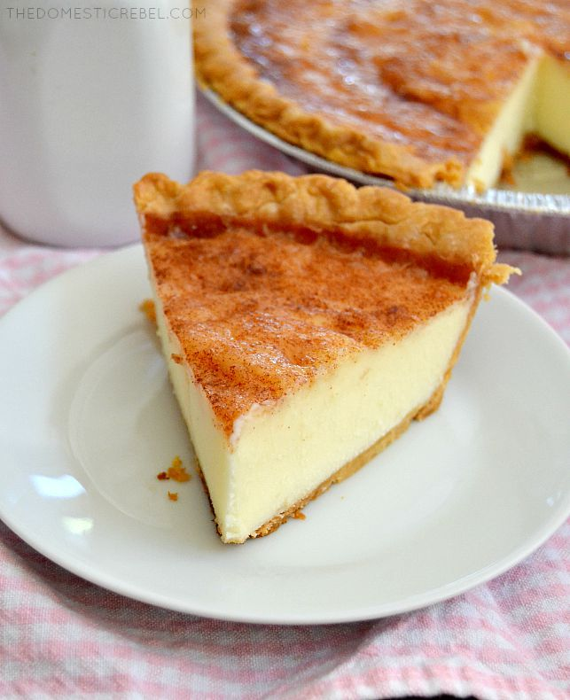 Sugar Cream Pie | The Domestic Rebel | We Heart It | pie, dessert, and ...